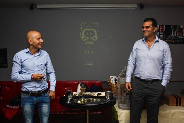 Goyo Fernández (LCT) y Christian Eiroa (CLE Cigars)