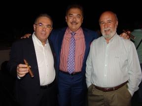 Ramón Zapata, Nick Perdomo y Ángel García Muñoz (De izq a dcha)